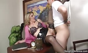 Cory Chase in thong seduces J Pipes