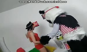 naughty fake penis sex in pirate costumes